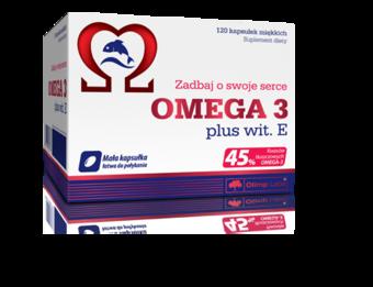 Olimp Omega 3 plus + wit. E